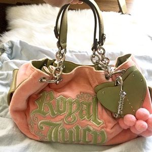 "Juicy Couture ""Royal Juicy"" peach bag RARE"